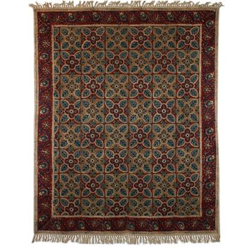 Large geometric floral rug | TradeAid