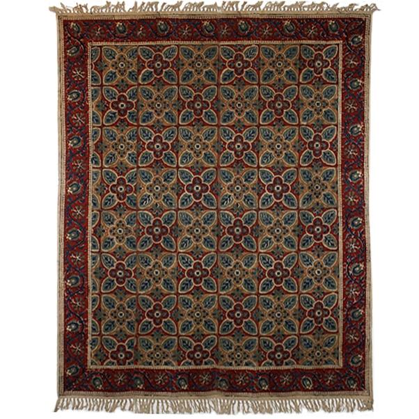 Large geometric floral rug | TradeAid