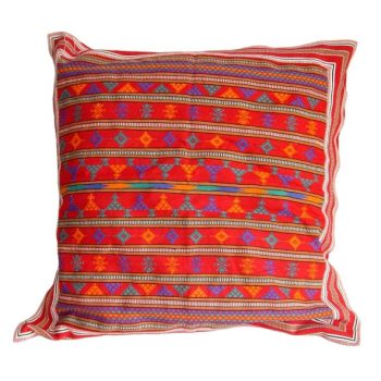 Red cotton cushion cover   TradeAid