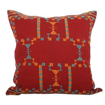 Manzil maroon and multicolour cushion cover | TradeAid