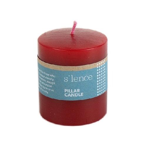 Short red pillar candle | TradeAid