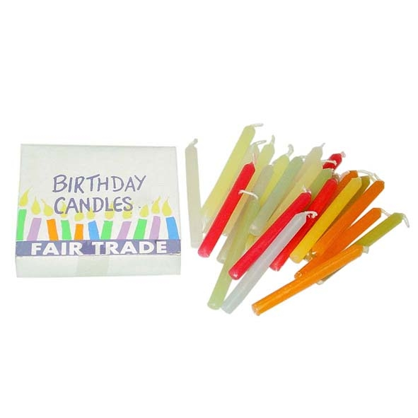 Pack of 24 birthday candles   TradeAid