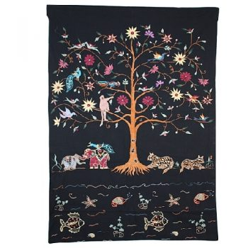 Black tree of life wall hanging | TradeAid