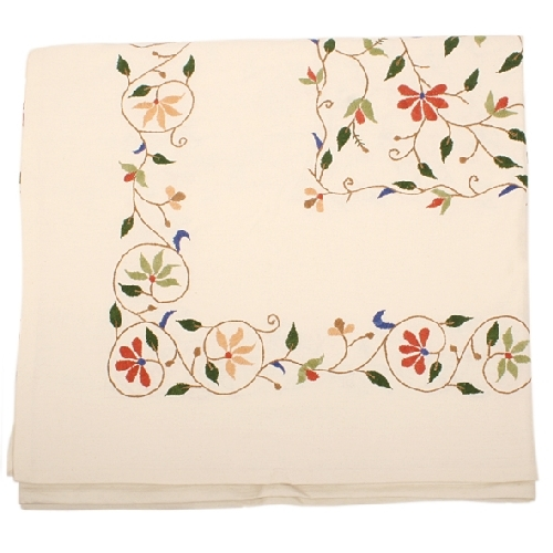 Cream tablecloth with floral design | TradeAid