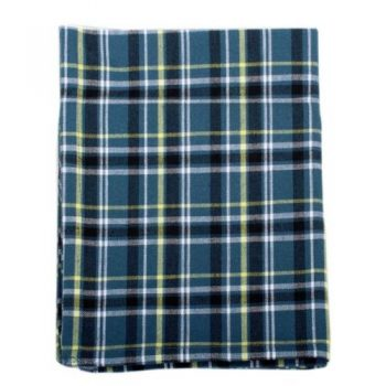 100% cotton tea towel with blue and yellow checks | TradeAid