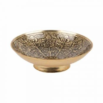 Small floral brass bowl | TradeAid