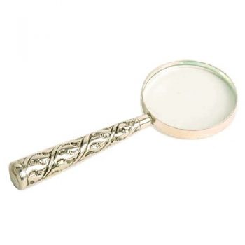 White brass magnifying glass | TradeAid