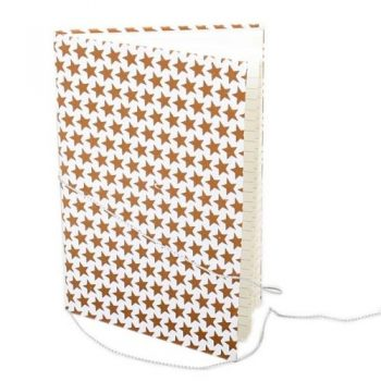 Cream notebook with bronze star print | TradeAid