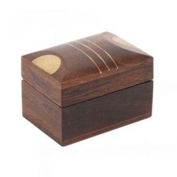 Box with brass stripe inlay | TradeAid
