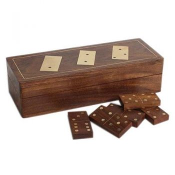 Wooden boxed dominoes | TradeAid