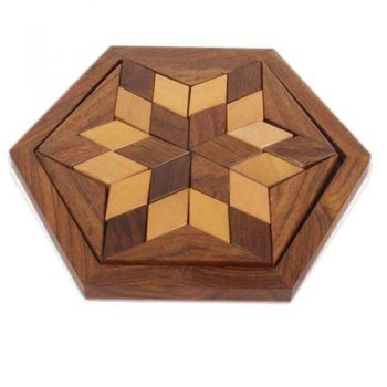 Wooden six point star puzzle | TradeAid