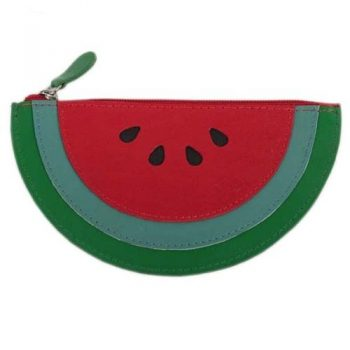 Leather watermelon coin purse | TradeAid