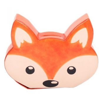 Leather fox design money box | TradeAid