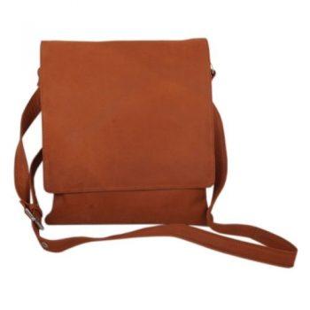 Brown leather shoulder bag | TradeAid
