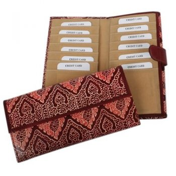 Shanti leather wallet with paisley design | TradeAid