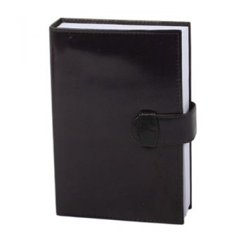 Black leather covered notebook | TradeAid