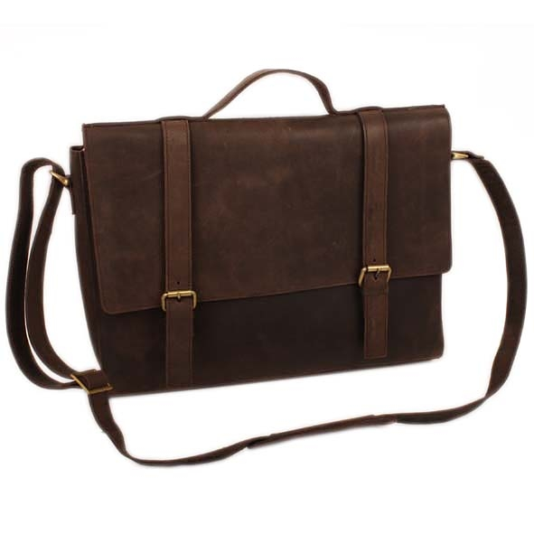 Brown hunter leather satchel | Gallery 1 | TradeAid