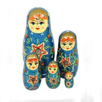 Glitter woman nesting dolls | TradeAid