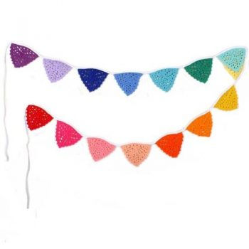 Cotton crochet rainbow bunting | TradeAid