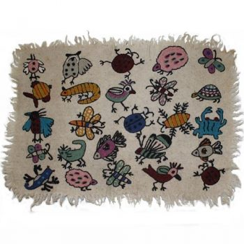 Insects and animals numdha rug | TradeAid