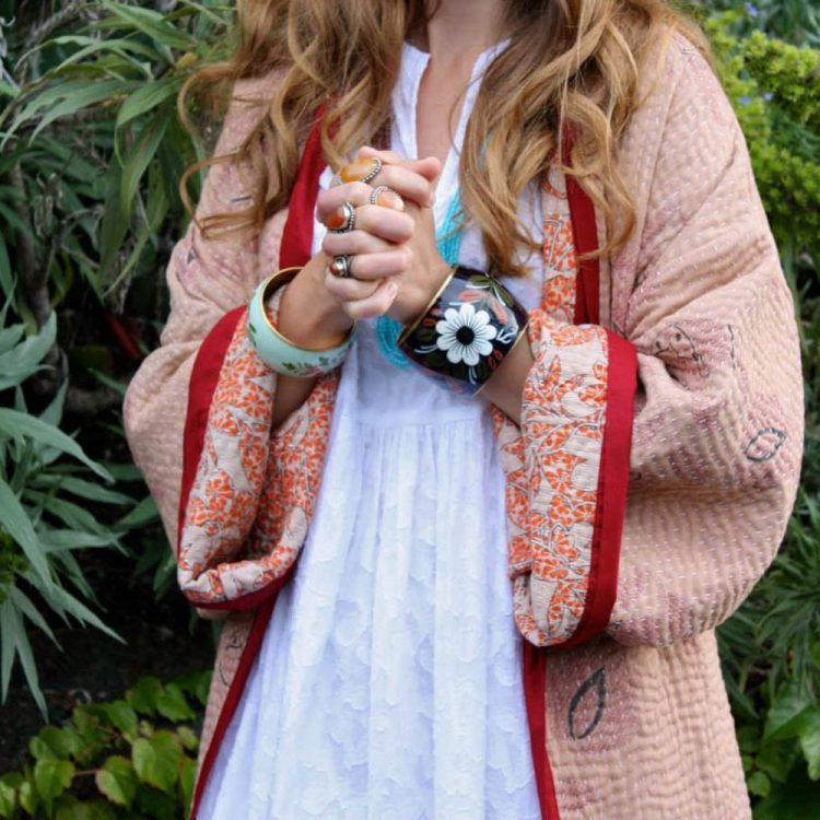 Recycled sari kimono (l) | TradeAid