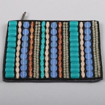 Multi coloured beaded cotton purse | TradeAid