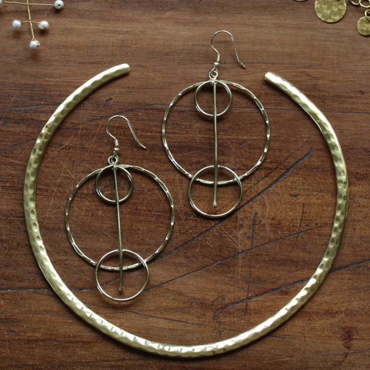 Hammered brass collar | Gallery 1 | TradeAid