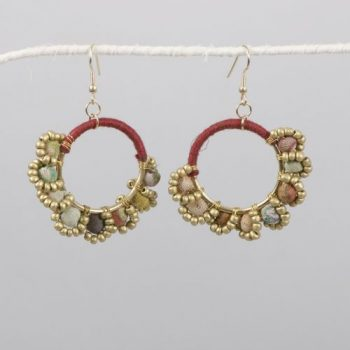 Recycled fabric bead earring | TradeAid