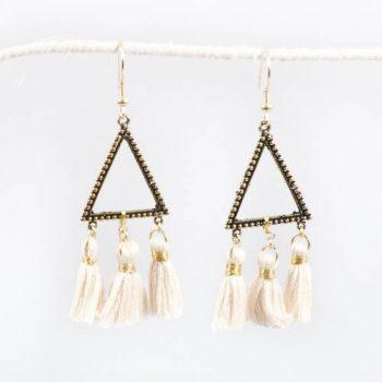 Triangle tassel earrings | TradeAid
