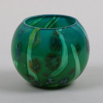 Round green and black vase | TradeAid