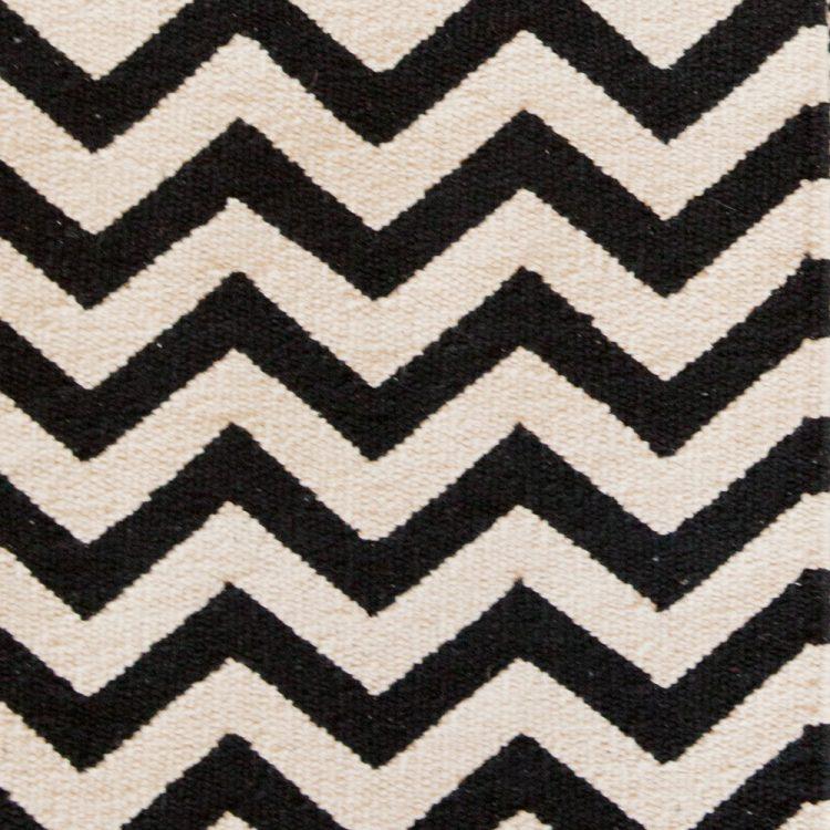 Medium black and white zigzag rug | Gallery 2 | TradeAid
