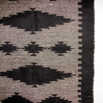 Medium black and white cotton rug | Gallery 2 | TradeAid