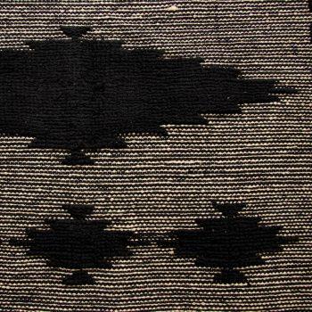 Medium black and white cotton rug | Gallery 2 | TradeAid