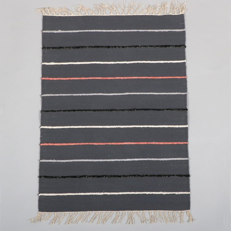 Grey cotton rug with stripes | TradeAid