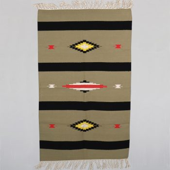 Khaki rug with black stripes | TradeAid