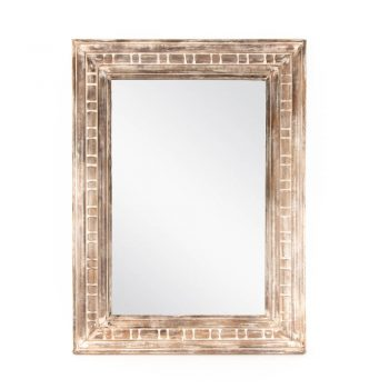 White mango wood mirror | TradeAid