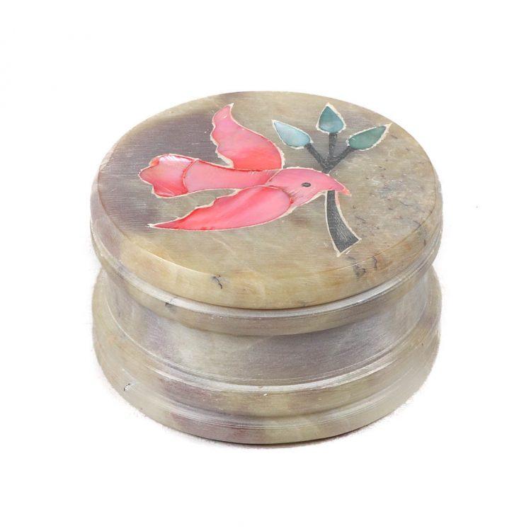 Stone box with bird inlay | TradeAid