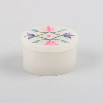 Stone box with floral lid | TradeAid