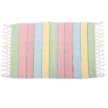 Hand woven striped table mat | TradeAid