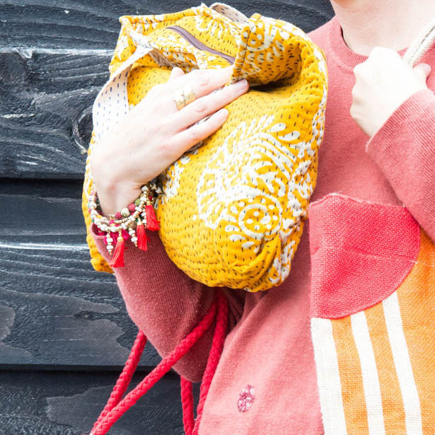 Recycled sari quilted shopper | Gallery 1 | TradeAid