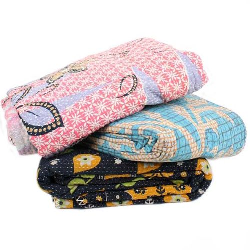 7 layer quilted kantha throw | TradeAid