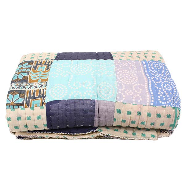 Queen recycled sari quilt   Gallery 2   TradeAid