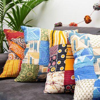 Recycled sari cushion cover | TradeAid