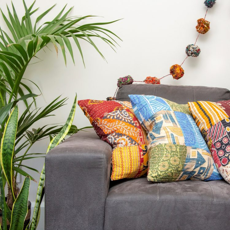 Recycled sari cushion cover | Gallery 1 | TradeAid
