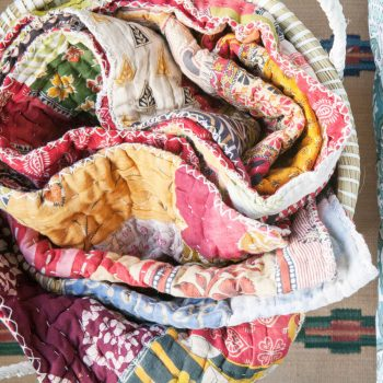 King recycled sari patchwork quilt | TradeAid