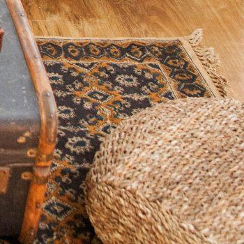 Medium black and gold geometric rug   Gallery 2   TradeAid