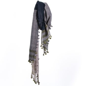 Blue and green woollen stole | TradeAid