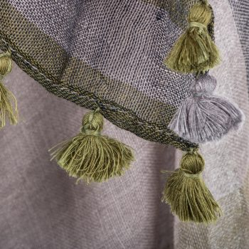 Blue and green woollen stole | Gallery 2 | TradeAid