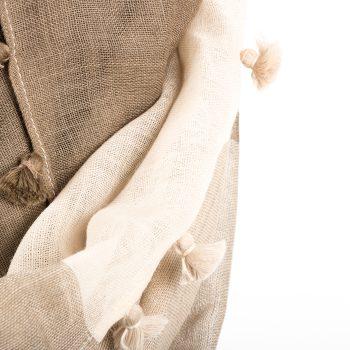 Beige and purple woollen stole | Gallery 2 | TradeAid