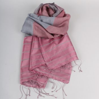 Purple silk and wool mix scarf | TradeAid